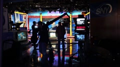 NBroadcasting television program of channel SNY in NYC. Stock Footage