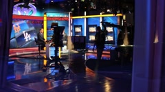 Work for broadcasting of channel SNY in NYC. Stock Footage
