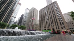 Fountain and Exxon Building, more widely known by its address 1251 Avenue Stock Footage