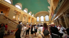 Grand Central Terminal is oldest and well-known station in New York Stock Footage