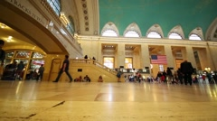 Under view of Grand Central Station in NYC, United States Stock Footage