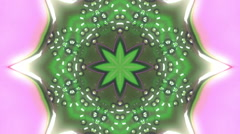 Futuristic Fluorescent Kaleidoscope With Glowing Organic Shapes Stock Footage