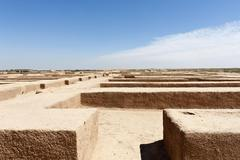 Stock Photo of Foundation walls ancient Persian city of Susa or Shush Khuzestan Province Iran