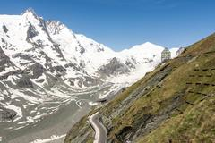 Glacier in the alps Stock Photos
