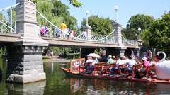 Boats in Boston Public garden in Boston, United States. Stock Footage