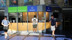 Lobby in New England Aquarium in Boston, United States. Stock Footage