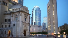 Christian Science Center at evening in Boston, United States Stock Footage