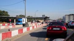 Construction reversal overpass near Mytishchi Stock Footage