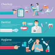 Teeth Care Horizontal Banners - stock illustration