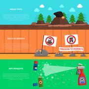 Pest Banner Set Stock Illustration