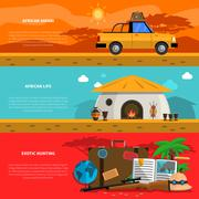 Safari Banner Set Stock Illustration