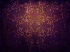 Grunge purple background with pattern - stock illustration