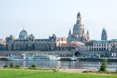 Dresden Elbe Promenade Stock Photos