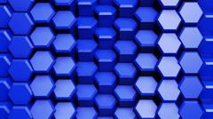 3D Wall Wave 4K Vj Loop 01 - stock footage