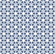 Stock Illustration of abstract hexagonal blue winter pattern