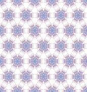 Stock Illustration of spinious flowers pink blue pattern