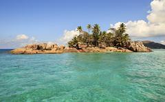 Beautiful St. Pierre Island in Indian Ocean Stock Photos
