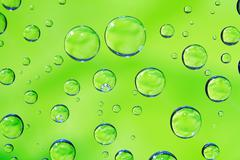 Green Drops Background Stock Photos
