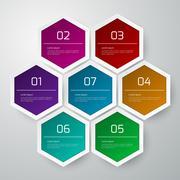 Vector illustration infographics hexagons Stock Illustration
