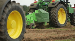 2 tractors manoeuvring Stock Footage