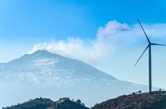 Eolic Turbine - stock photo