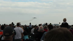 Vulcan bomber aircraft performing at leuchars airshow Stock Footage