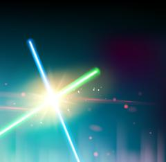 Two laser rays Stock Illustration