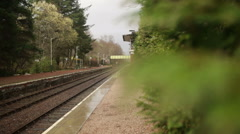 Spean bridge train station in the Scottish highlands Stock Footage