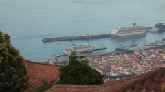 Timelapse, City of Funchal on Madeira island Stock Footage