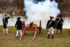 Cannons Fired for General Washington - stock photo