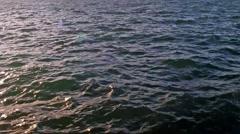 Stock Video Footage of Choppy waves during sunset Washington Sound