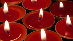 Christmas candles - stock footage
