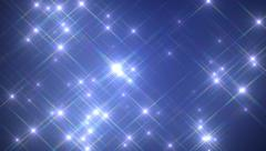 Colorful star field light flashes Stock Footage
