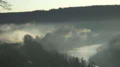 Morning mood river salzach in burghausen Stock Footage