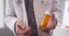 Patient point of view of doctor prescription medication Stock Photos