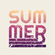 Summer typography, t-shirt graphics Stock Illustration