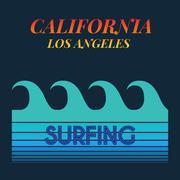 Surf typography, t-shirt graphics. Stock Illustration
