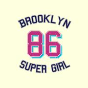 Super girl typography, t-shirt graphics. Stock Illustration