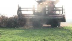 Harvester on field Stock Footage