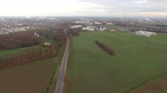 German landscape with fields – AERIAL Stock Footage