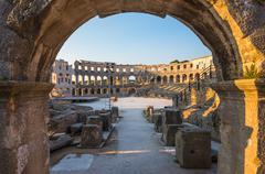 Architectural Details of Pula Coliseum, Croatia Stock Photos