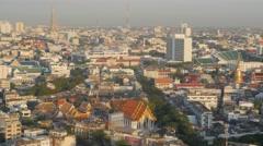 City view with Rama VIII bridge,Bangkok,Thailand Stock Footage