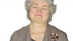 Mature woman stares. Stock Footage