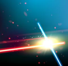 Two laser rays - stock illustration