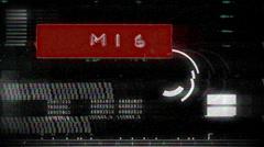 MI6 british spy secret GRAPHIC BACKGROUND Stock Footage