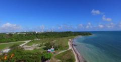 Atlantic ocean and coast of Virginia Island. 4k aerial video. Stock Footage