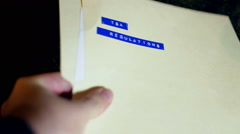 TSA regulations document folder 222 - stock footage