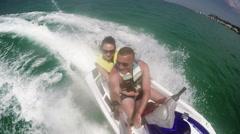 GOPRO Couple Jetski Ride 3 4K Stock Footage