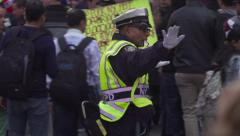 4K, Police Officer Directing Traffic in Times Square, New York CIty Stock Footage