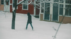 Snow Storm in Victorian Homes Neighbourhood. Stock Footage